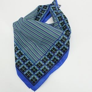Vintage Blue Pattern Striped Scarf